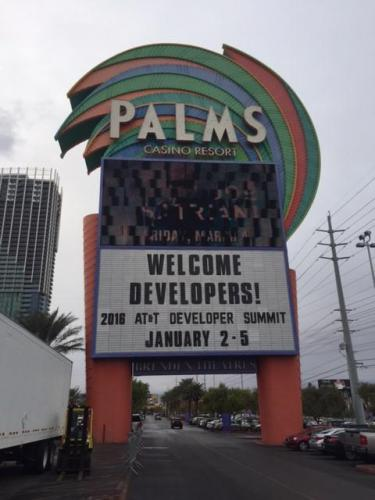 AT&T Developer Summit and Hackathon was located at the Palms Casino Resort in Las Vegas, NV.